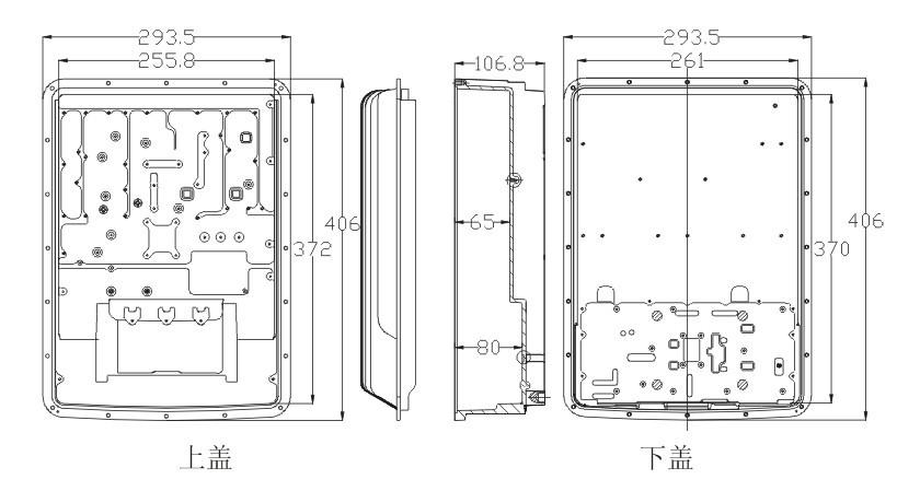 铝合金机箱外壳尺寸 图纸